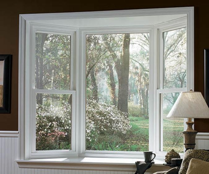 encompass by pella bay window in white