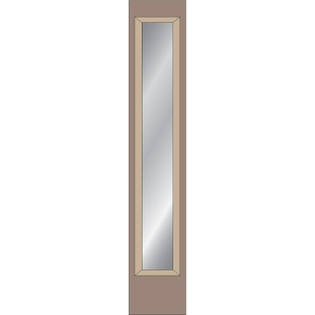 full light sidelight for wood entry doors