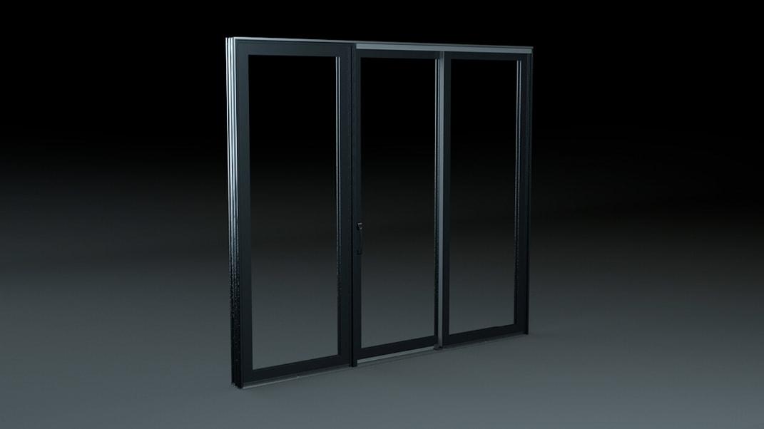 computer graphic of an impervia sliding patio door