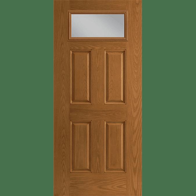 fan light rectangle top entry door cob
