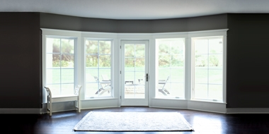 lifestyle series hinged door with four casement windows