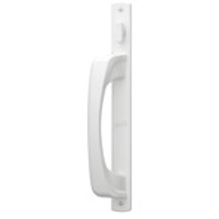 White sliding patio door handle