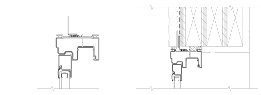 block frame technical drawing for offset fin