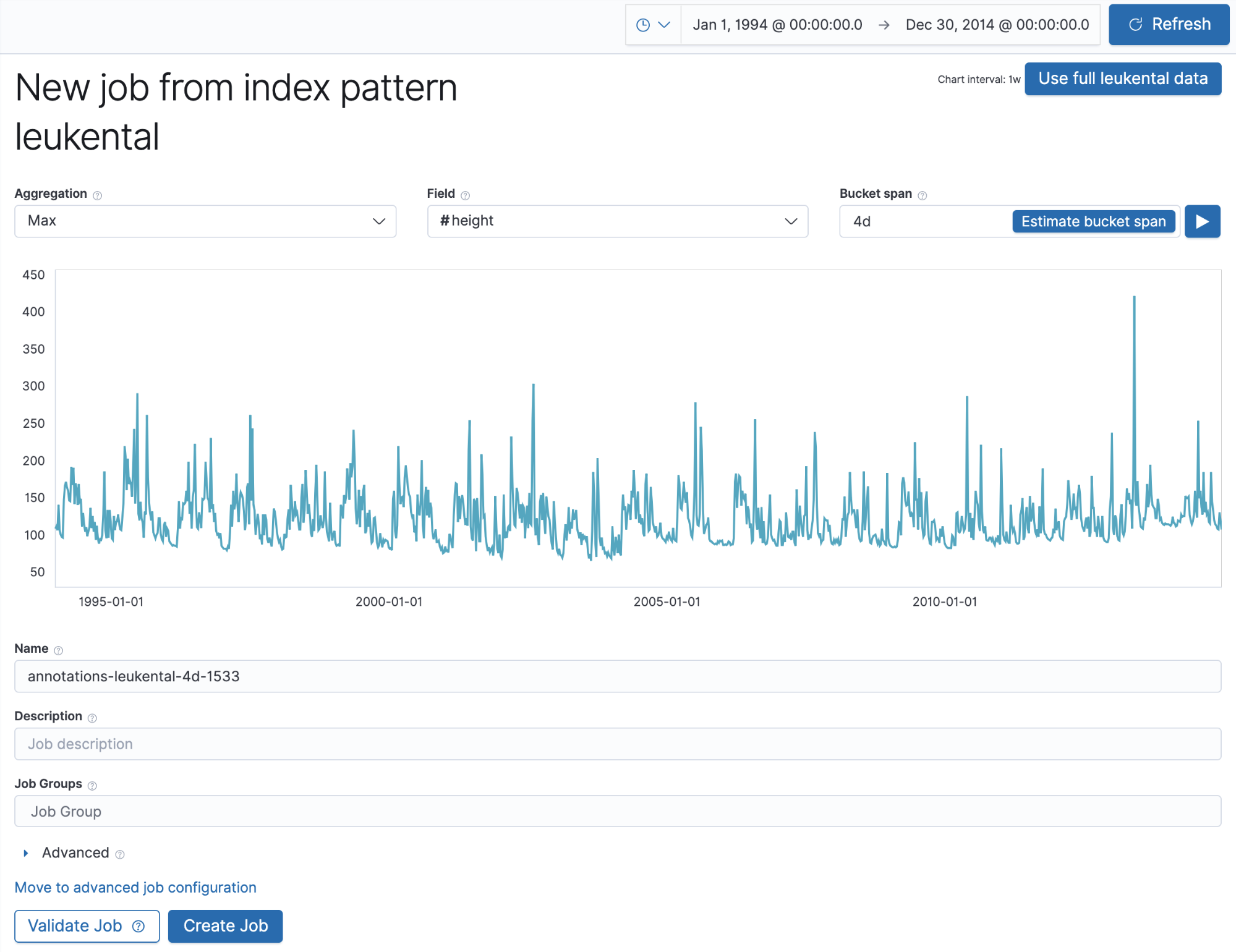 Augmenting results with user annotations for Elastic machine