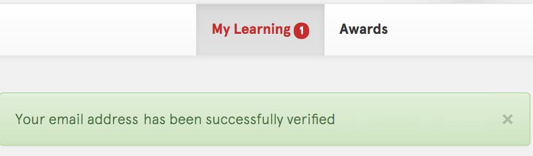 Screenshot: Dashboard - Verification