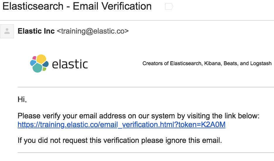 Screenshot: Verification Email
