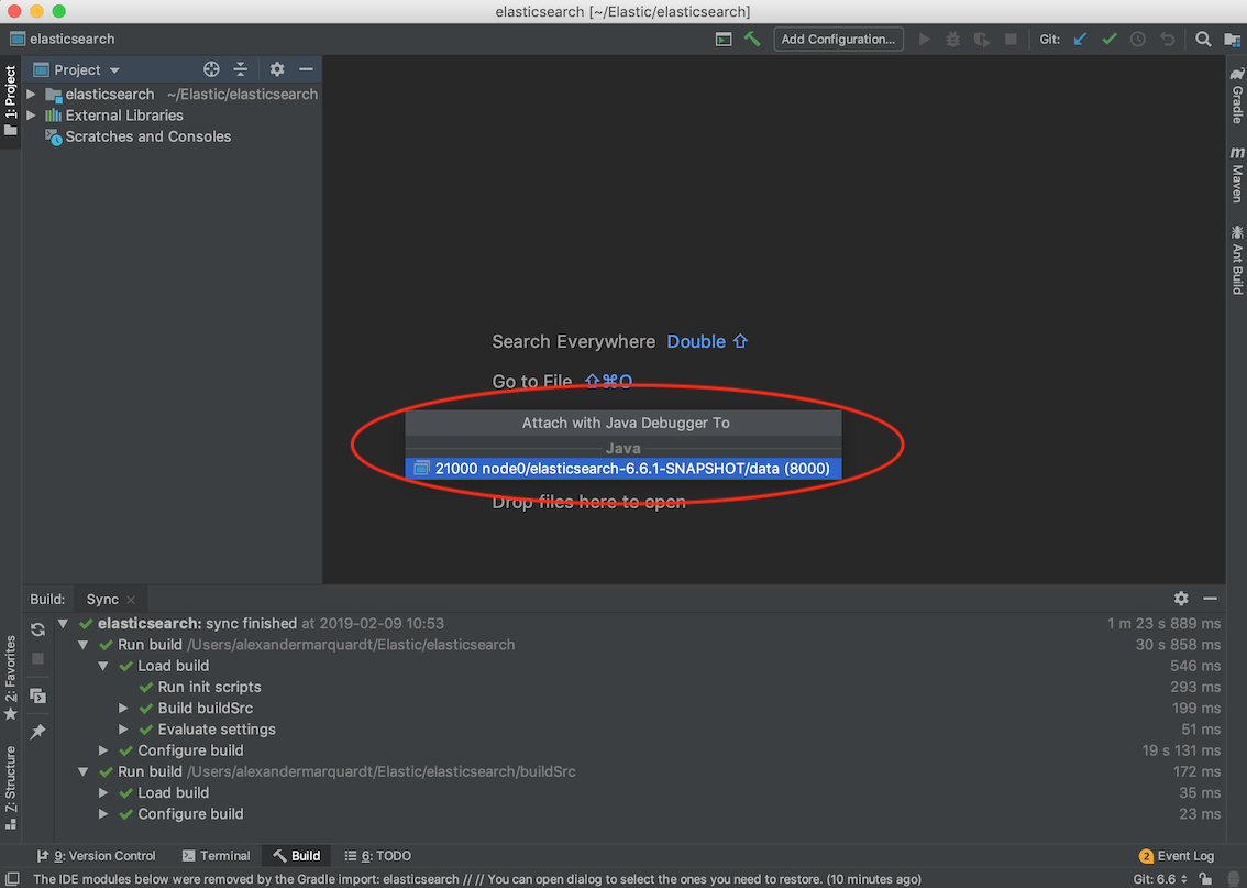 Setup, Run & Debug Elasticsearch Source Code in IntelliJ