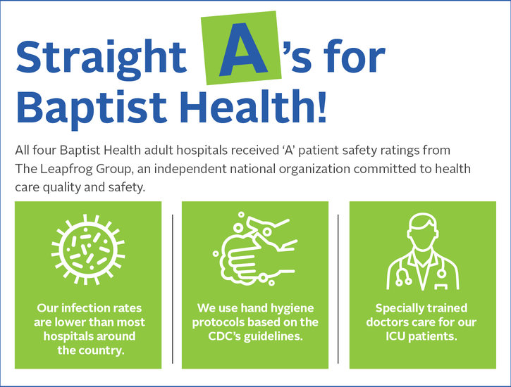 Straight A's for Baptist Health graphic