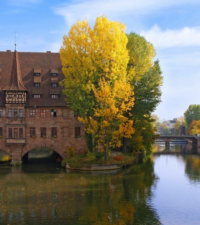 Nürnberger Altstadt an der Pegnitz
