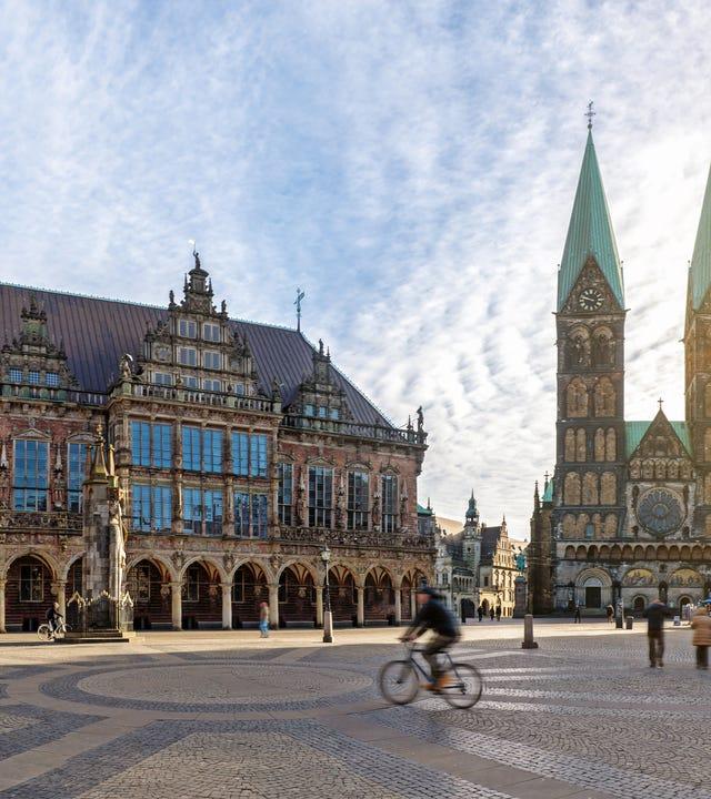 Marktplatz in Bremen mit Dom und Rathaus