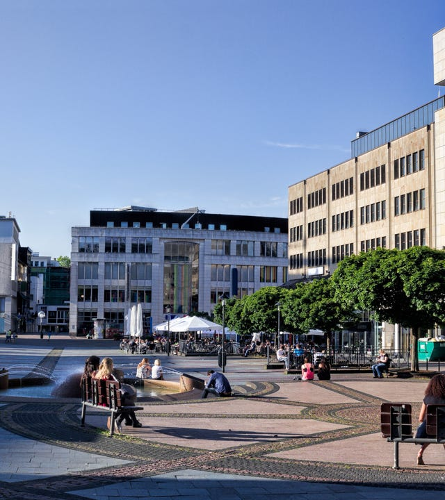 Stadtzentrum in Essen
