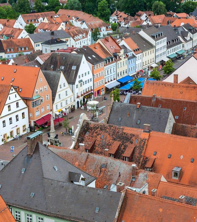 Mittelalterliche Dorf von Freising in Bayern