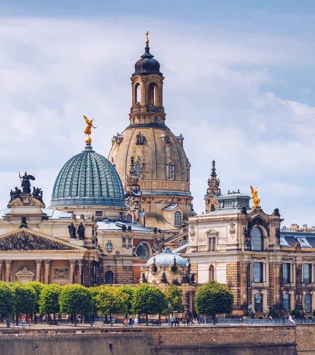 Die antike Stadt von Dresden, Deutschland. Historisches und kulturelles Zentrum Europas.