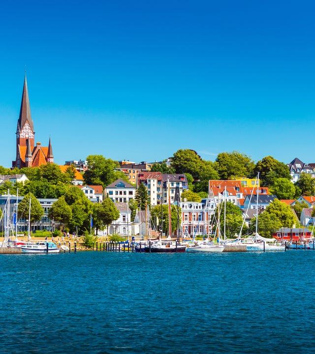Blick auf Flensburg und die Ostsee