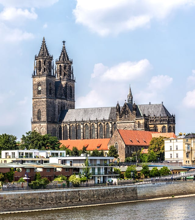 Magdeburg  ist die Hauptstadt des Landes Sachsen-Anhalt. Im Bild die Kathedrale von Magdeburg.